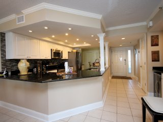 Completely redesigned open concept kitchen provides plenty of counter space