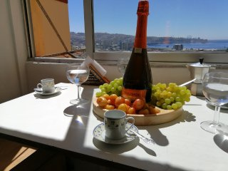Nice apartment in Valparaiso with wonderful view of the bay