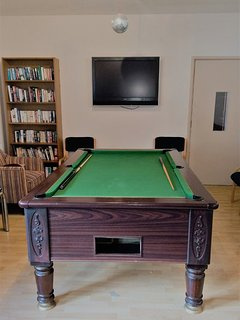 There is a snooker table and TV in the Games Room to enjoy in the evenings.