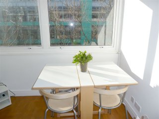 Dining table with five chairs