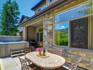 Riverside retreat with private hot tub, mountain views, and room for everyone!