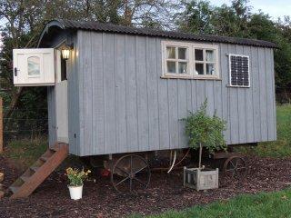 Stunning luxury Shepherds Hut on beautiful working farm 3 miles from Hereford