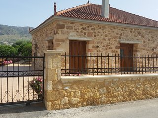 Elegant stone built house with gardens, BBQ, near Chania town center & beaches