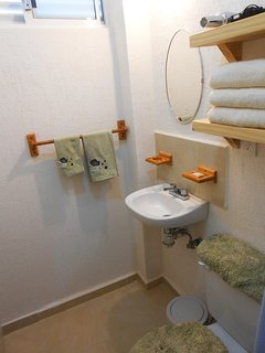 Hairdryer, soap, shampoo and bath towels available during your stay