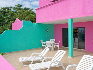 Sunny Sundeck Suite at Caribe Suites Puerto Morelos Mexico near Cancun