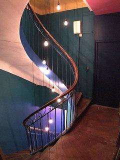 Cage d'escalier de l'immeuble particulier