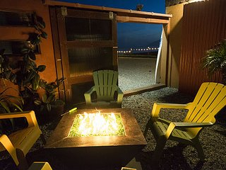 Garden Fire pit with Beach View