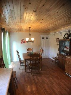 Dining area at Cedar Breeze Cabin-- Eat in!