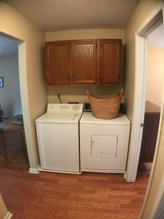 Laundry station with washer and dryer