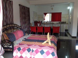 Clean & Spacious AC Studio Apt 1 with Fully Equipped Kitchenette, Calangute
