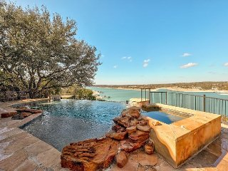 Luxe 4BR Lake Home w/ Theater, Infinity Pool, Hot Tub & Private Boat Dock
