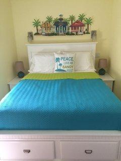 Plenty of room in this queen size bed.
