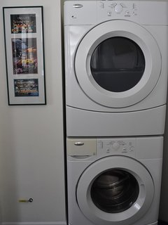 Washer and dryer in the second bathroom