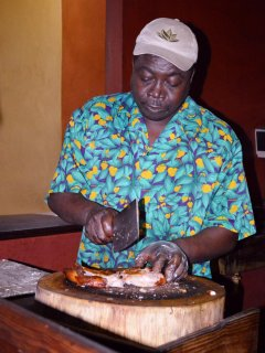 You have got to try some jerk chicken while you are in Jamaica.  It is an island specialty