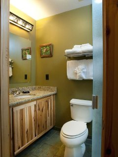 Get ready for your day outside in the spacious bathroom