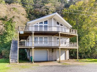 Dog-friendly oceanfront home w/ fantastic views, entertainment - close to beach!