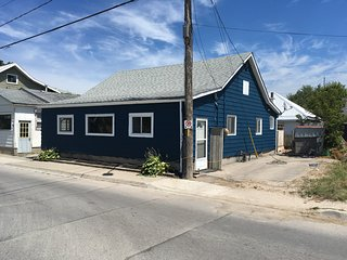Blue Cottage across from the Beach