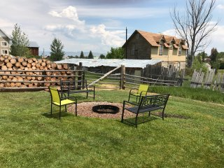 fire pit area with plenty of outdoor space