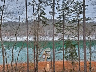 NEW! Lakefront Cabin in Quiet Cove w/ Dock!