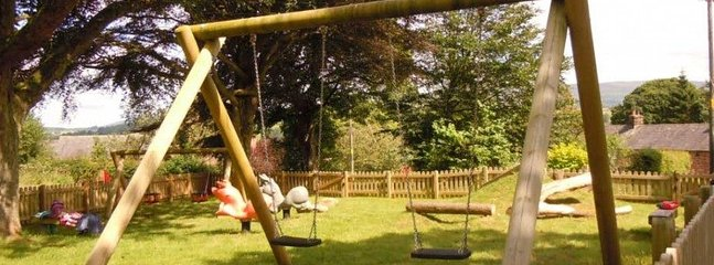 The National Lottery funded playground in the village, walking distance from Elk Cottage
