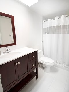 suites come with two full bathrooms