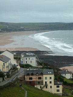 View from Cottage to Woolacombe