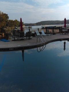 Plenty of seating around the pool area