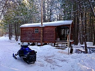 Private Bunkie in the Woods + Ice Fishing Hut!