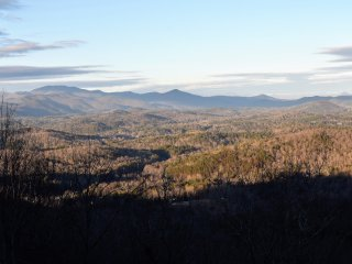 View across the BlueRidge into the Great Smokey Mountains in Tennessee