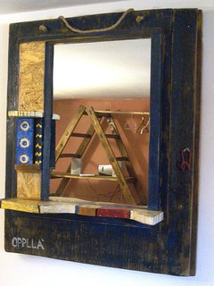 recycle: a new life to objects - 'mirror of water' (before, a fishing boat door)