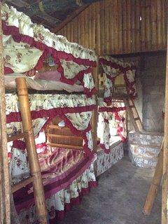 sleeping area upper & lower beds