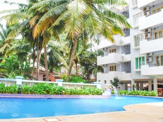 Capacious 3-BR stay with a pool, near Calangute Beach
