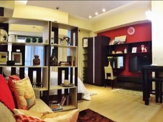 Comfy Studio with Gym Pool & Fast WiFi at Le Grand 3 Eastwood City