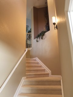 Stairs  from entrance to unit