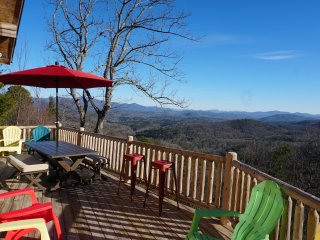 The ULTIMATE Log Cabin Experience with BREATHTAKING Views !!