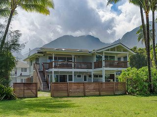 Luxury Beachfront on Hanalei, Modern outdoor spaces with A/C.