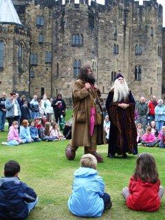 Meeting Dumbledore and Hagrid at Hogwarts (AKA Alnwick Castle)