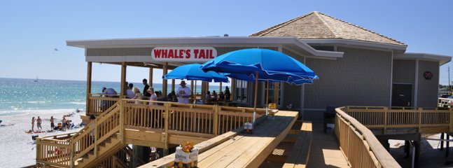 Whale's Tail Restaurant on our beach