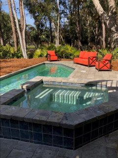 Soak in the Hot Tub while viewing Golf Course