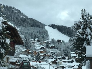 View from front of chalet of Timalet piste