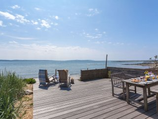 Seaside beach cottage near Lymington, sandy beach, great walking, remote + wild.