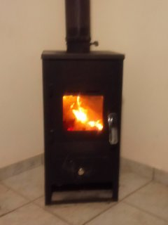 Our visitors in winter can take advantage of the small wood burning stove.
