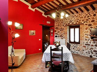 Red Apartment in a 19th-Century Winery