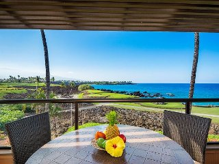 Mauna Lani Point B208 - Stunning Ocean Front Unit with Golf & Ocean Views