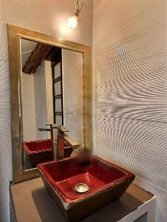 Bathroom 2  is equipped with : washbasin, shower, toilet.