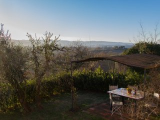 BEST VIEW in SAN GIMIGNANO CITY Tuscany lands 2 bedro. PODERE MAGIONE FARM HOUSE