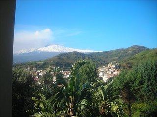 Ätna-Ansicht von unserer Villa Panorama von SunTripSicily