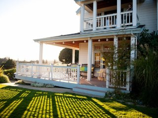 Pacific Oaks Vineyard Guest Room with private sun porch