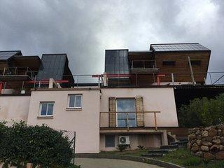 Studio 42 m2 climatise, terrasse bois privative,piscine, dans domaine securise