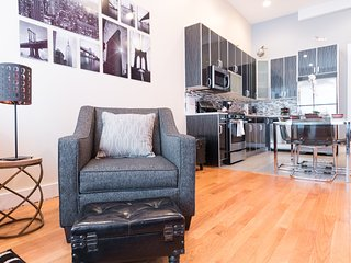 STUNNING LUXURY LOFT --- NEAR TRAIN (2 BEDROOM)
